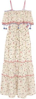 Anjuna Violante Crochet-trimmed Printed Cotton-voile Maxi Dress