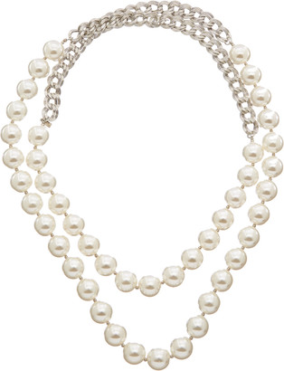Kenneth Jay Lane Rhodium Plated 55In Necklace