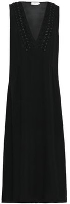 A.L.C. Araya Lace-trimmed Silk-blend Crepe Midi Dress