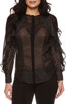 Bisou Bisou Ruffled Illusion Top