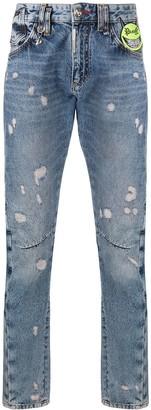 Philipp Plein Evil Smile patch jeans