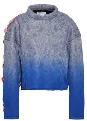 Maison Margiela Embellished Printed Degrade Scuba Sweatshirt