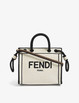 Fendi Roma mini canvas tote bag