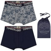 Timberland TimberlandBoys Grey & Navy Boxer Shorts Set (2 Pack)