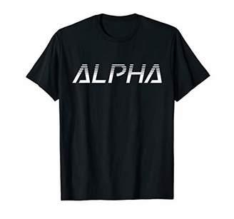C319 ALPHA Gym T-Shirt Workout Fitness MMA Motivation Wh