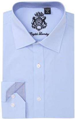 English Laundry Solid Trim Fit Dress Shirt