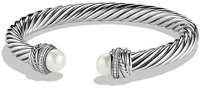 David Yurman CrossoverTM Bracelet with Pearls and Diamonds