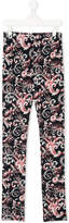 Versace Teen baroque print leggings
