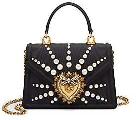 Dolce & Gabbana Women's Embellished Logo Top Handle Bag