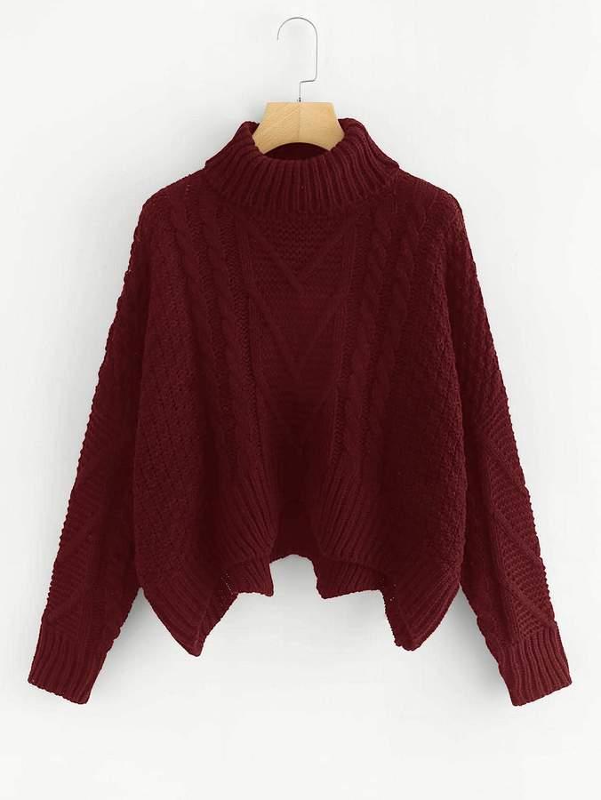 cf89f11f4a Plus Size Asymmetrical Sweater - ShopStyle