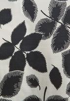 Milly Cascade Top in Ecru/Black Leaves Print
