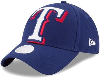 New Era Women's Royal Texas Rangers Glitter Glam Team 9FORTY Adjustable Hat