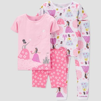 Carter's Baby Girls' 4pc 100% Cotton 'Princess' Pajama Set - Just One You® made