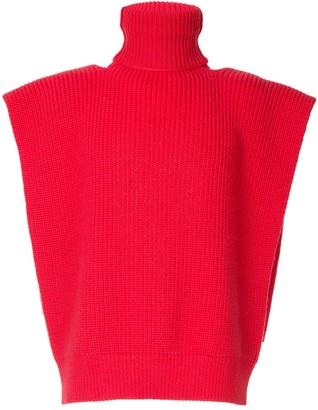Raf Simons high neck vest