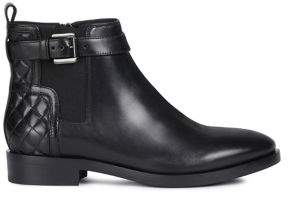 Geox Brogue 19 Leather Booties