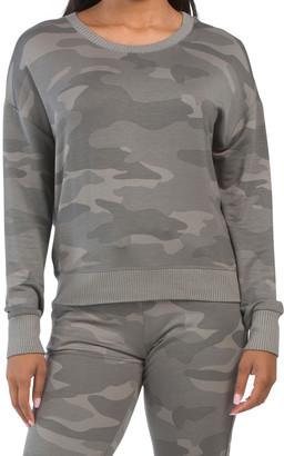 Camo Pullover Top