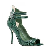 Max Studio Emerald – Genuine Snake Double Ankle Strap Sandals