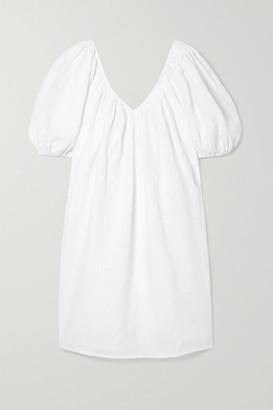 Mara Hoffman Net Sustain Odine Linen Mini Dress - White