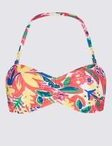 Marks and Spencer Floral Print Bandeau Bikini Top