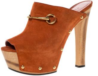 open toe platform mules