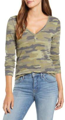 Lucky Brand Camo Print Thermal Shirt