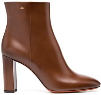Santoni Round Toe Ankle Boots