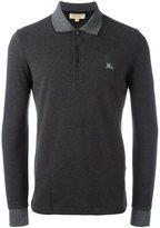 Burberry longsleeved polo shirt - men - Cotton - S