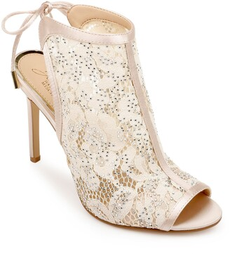 Badgley Mischka Boulder Crystal & Lace Sandal