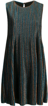Golden Goose Glitter Stripe Shift Dress