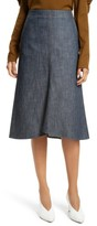Tibi Women's Raw Denim Midi Skirt