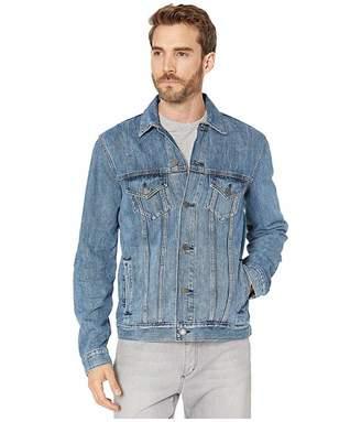 Lucky Brand Medium Blue Tencel Trucker Jacket