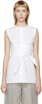 Each X Other White Belted Sleeveless Blouse