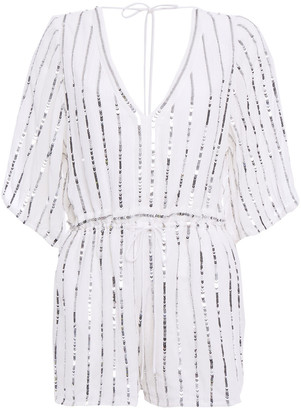 SUNDRESS Embellished Gauze Playsuit