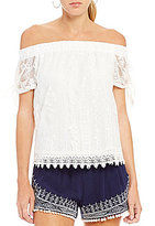I.N. San Francisco Off-The-Shoulder Lace Top