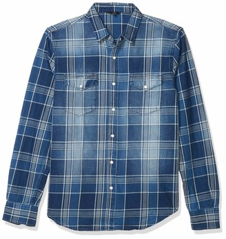 Joe's Jeans Men's Ralston Idigo Button Down Shirt