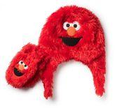Sesame Street 2-Piece Toddler Elmo Furry Hat and Mitten Set in Red