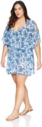 Coastal Blue Women's Plus Size Cover Up