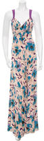 Temperley London Sleeveless Floral Print Gown