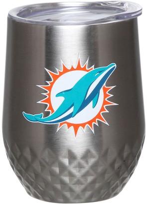 Miami Dolphins 12oz. Stainless Steel Stemless Diamond Tumbler