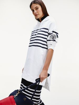 Tommy Hilfiger Stripe Relaxed Fit Hooded Dress