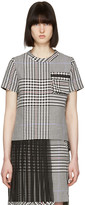 Sacai Black and White Check Pleated T-shirt