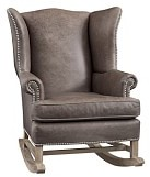 Pottery Barn Kids Thatcher Leather Rocker