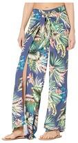 La Blanca Tropical Rain Tie Front Side Slit Pants Cover-Up (Blue Moon) Women's Swimwear