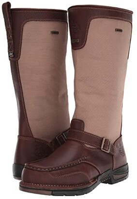 Georgia Boot Upland 16 Moc Toe Side Zip Snake (Brown) Men's Boots