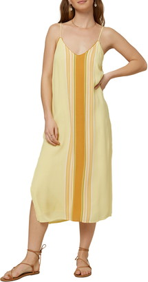 O'Neill Avana Striped Midi Shift Dress