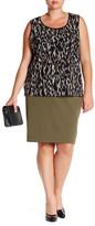 Kasper Stretch Skirt (Plus Size)