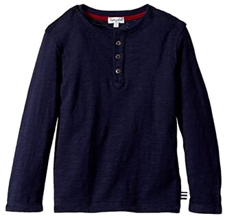 Splendid Littles Always Basic Long Sleeve Henley (Toddler/Little Kids) (Navy) Boy's Clothing