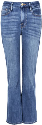 Frame Le Crop Mini Boot Blue Jeans
