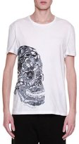 Alexander McQueen Butterfly-Skull Graphic T-Shirt, White