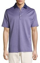 Peter Millar Ophelia Jacquard Cotton Lisle Polo Shirt